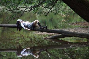 Laying On Tree
