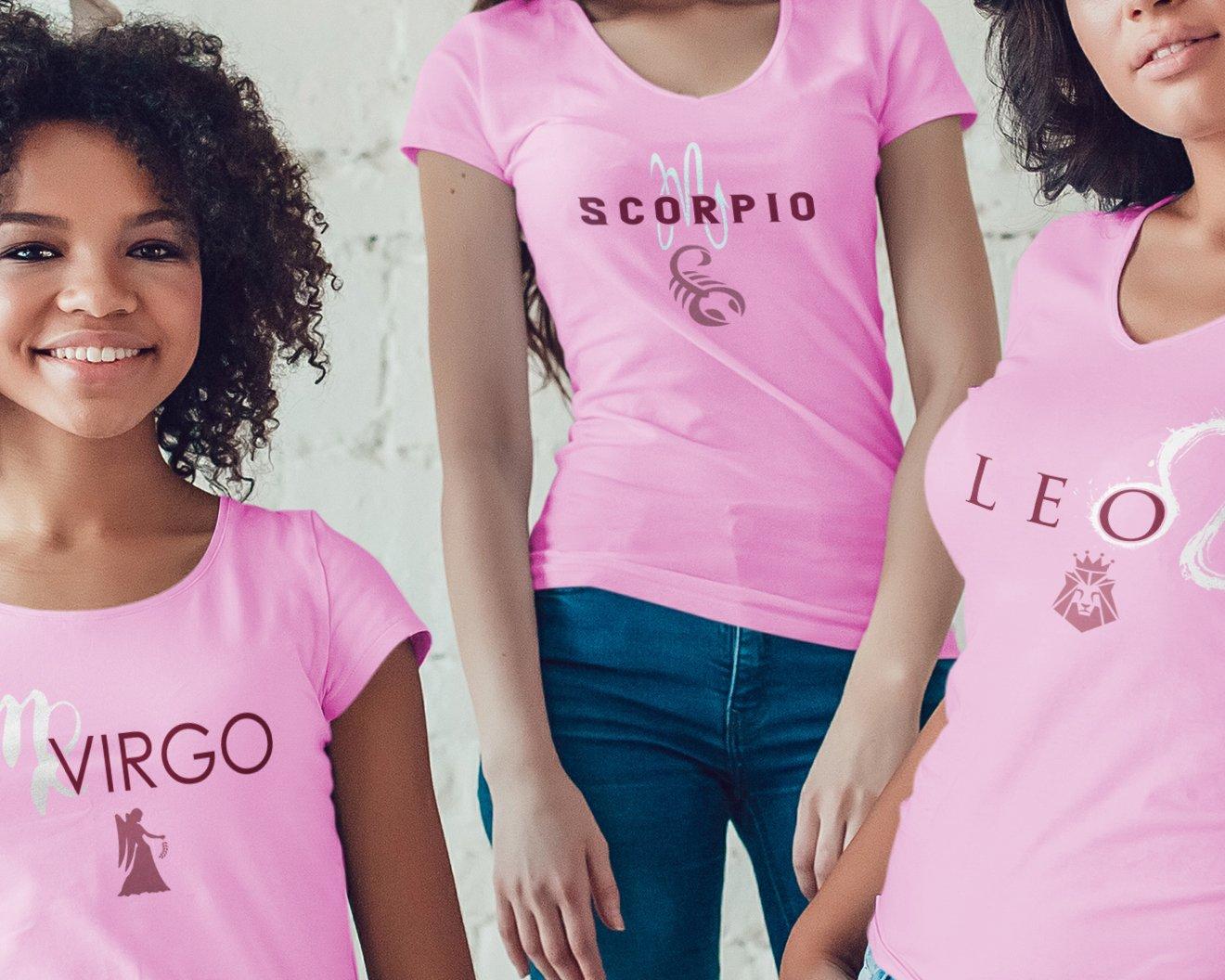 Virgo_Scorpio_Leo_Shirts_Pink