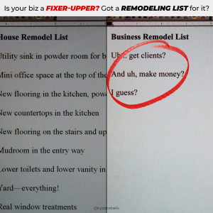 Fixer-Upper List For Biz