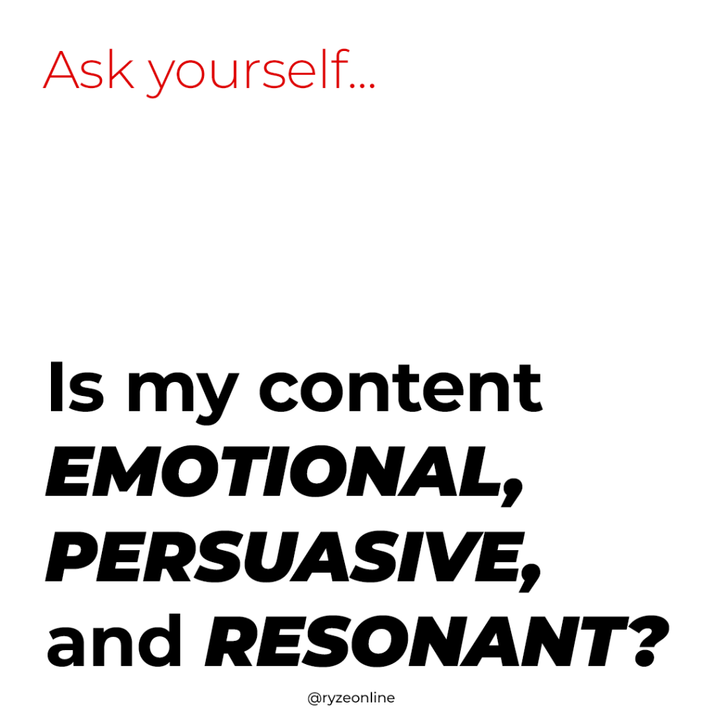Ask Yourself - Is My Content