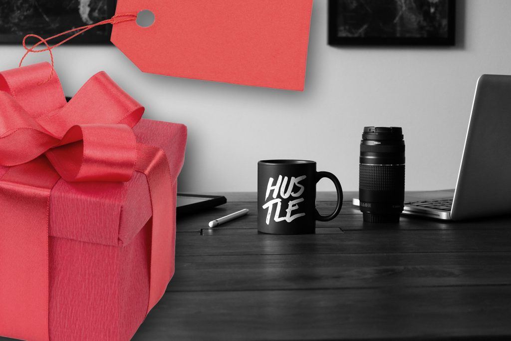 hustle_gift_w_present
