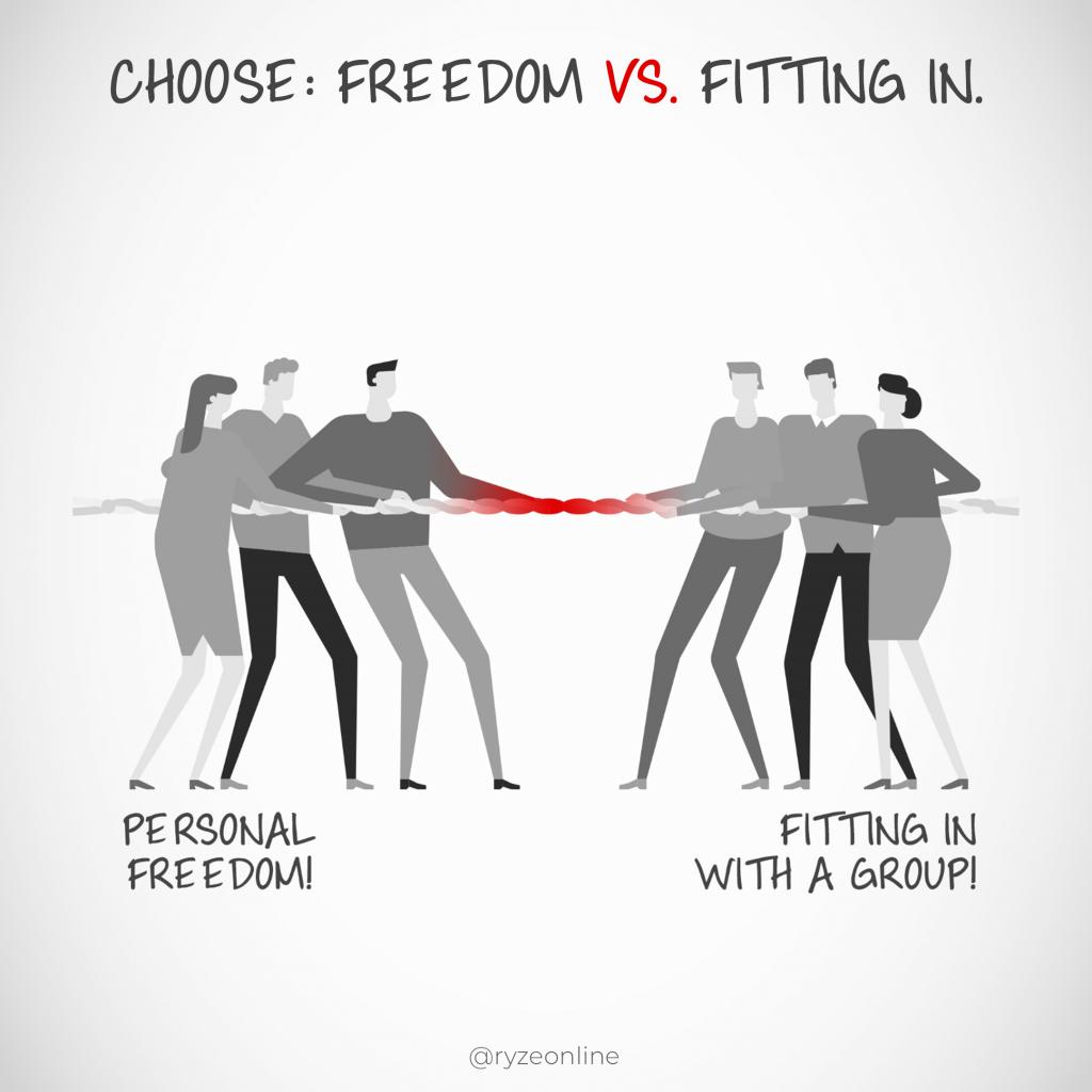 Freedom Vs Fitting In