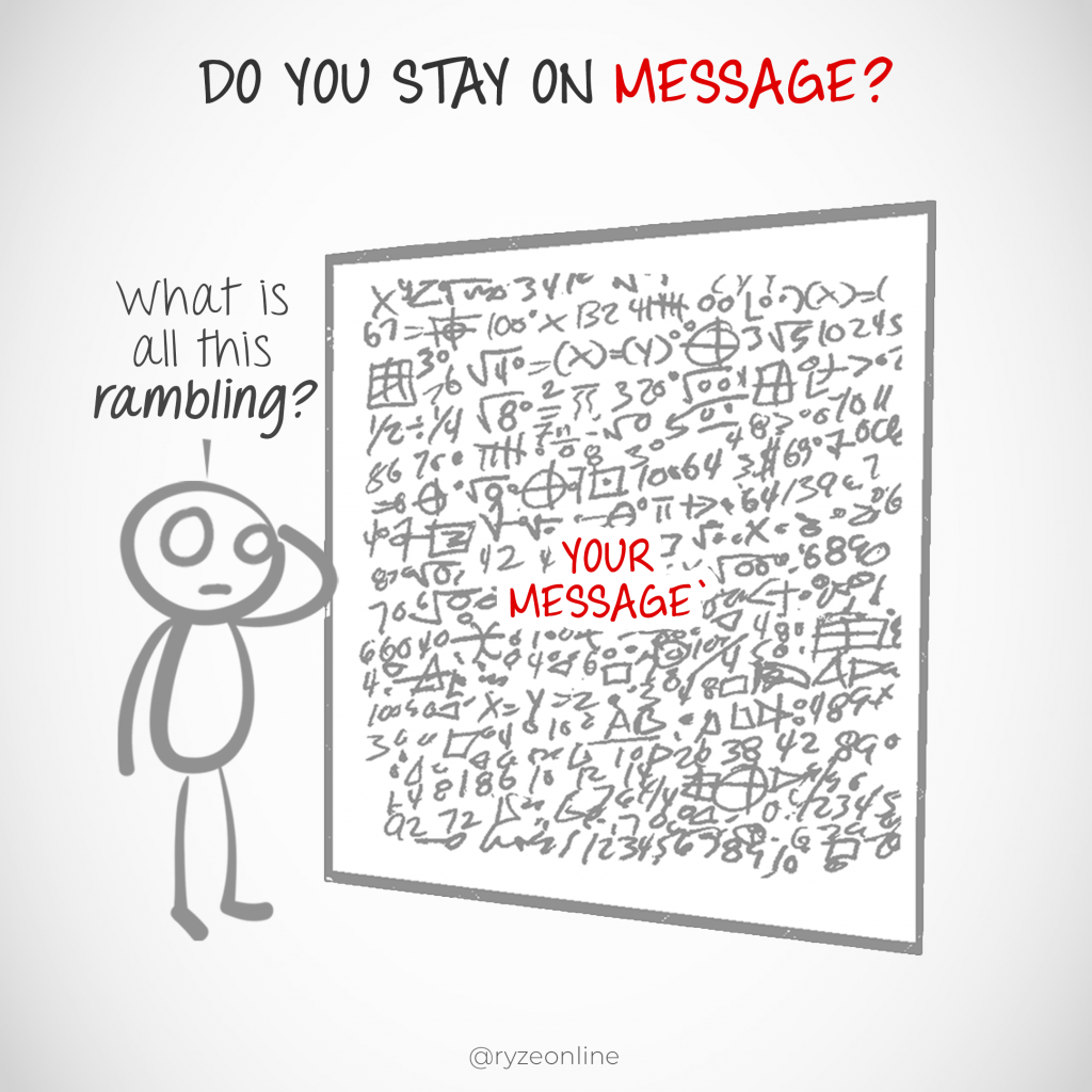 Don't Ramble, Stay On Message
